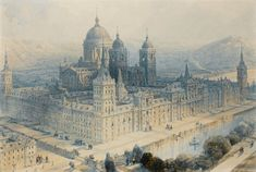 El Escorial pintado por David Roberts,1836