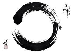 Ensō symbolizes a moment when the mind is free to simply let the body/spirit create. It symbolizes absolute enlightenment, strength, elegance, the universe, and the void.