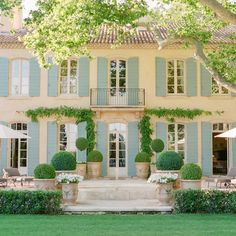"""This French countryside wedding has officially stolen our hearts. Olympic Gold Medalist and Dancing With The Stars champion Meryl Davis said """"I Do"""" to Fedor Andreev at the exquisite Le Mas des Poirier. My French Country Home, French Farmhouse, Farmhouse Decor, Country Home Magazine, Enchanted Home, Luxury Estate, Exterior, Provence France, Provence Style"""