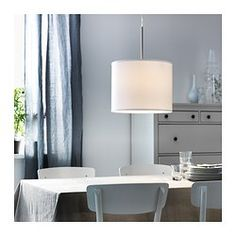 """NYMÖ Shade - IKEA -- Diameter: 15 """" -- something simple like this could work -- might want more color though... two might be better than one... $14.99"""