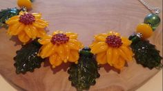 Bold Sunflower Necklace Sunflower Necklace, Glass Flowers, Handmade Jewellery, Shopping, Jewelry, Handmade Jewelry, Bijoux, Handcrafted Jewelry, Jewlery