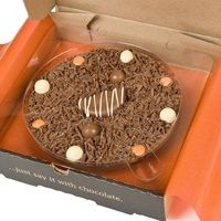 "10"" ULTIMATELY ORANGE CHOCOLATE PIZZA by The Gourmet Chocolate Pizza Company. #Easter"