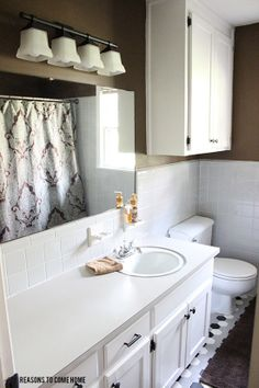 Bathroom On Pinterest Updating Cabinets Bathroom And