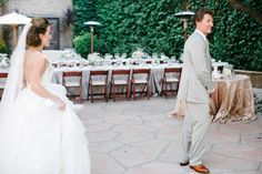 First Look with Dad. Wedding. Firestone Winery. Los Olives, CA. Josh Elliott Photography