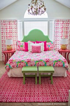 The perfect preppy bedroom to sleep in...