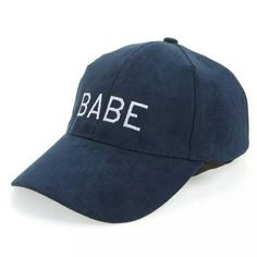 2313eaeb744 New Babe Suede Baseball Cap Hat Embroidered Baseball Caps