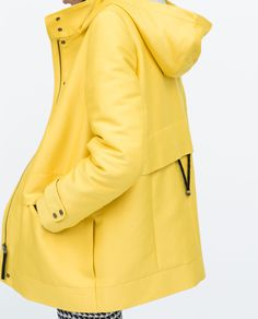 ZARA - WOMAN - HOODED PARKA WITH CHECK LINING