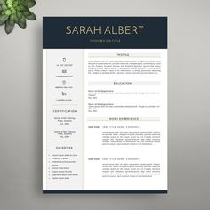 Modern Resume Template Creative Resume Template by VisionResumes
