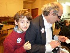 Myles and his Dad - activist heroes!