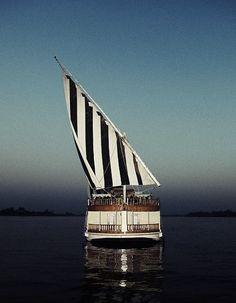 Striped sailing.
