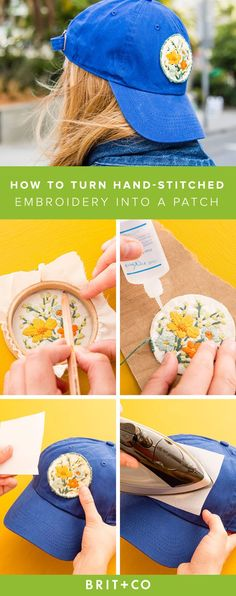 Follow this tutorial to DIY your own cute patch.