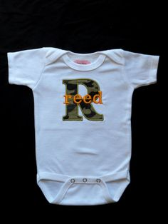 Monogrammed Baby Boy Clothes  Camo Baby Boy  by LilMamas on Etsy, $17.00