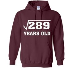 Square Root Of 289 Funny 17 Years Old T-Shirt 17th Birthday