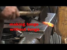 Making blacksmith tongs is the most requested topic for a video. There have been a few specific requests for making tongs when you don't have tongs or a lot . Blacksmith Tongs, Power Hammer, Metal Art, Metal Working, I Shop, Blacksmithing Ideas, Iron, Flat, Welding