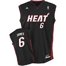 adidas Miami Heat LeBron James Youth (Sizes 8-20) Revolution 30 Replica Road Jersey - NBAStore.com