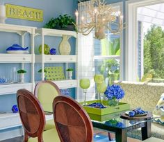 Genial Blue And Green Dining Room With A Beach Theme By Echelon Interiors.  Featured On Completely