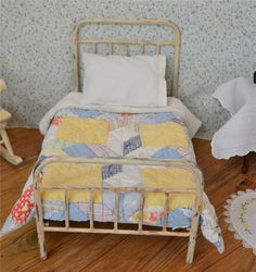 American girl doll bedding, vintage quilt and sheet set