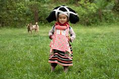 """Hmong Longhorn women wear horns connected to their hair. Because of this they are called Longhorn Miao in English. In Hmong, they are called """"Hmoob Hav Zoov"""" meaning """"Forest Hmong"""".  The Chinese call them """"Qing Miao"""" which means """"Forest Miao""""."""