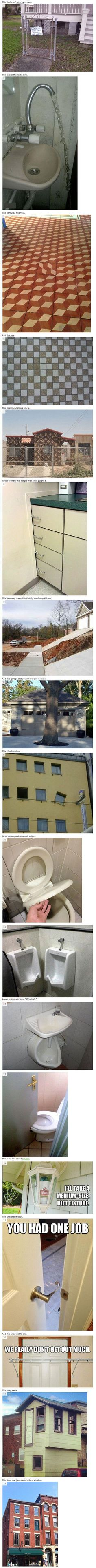 18 Weird and Crazy Construction Fails. Funny real estate house and home humor. Some of these are just hilarious Funny Fails, Funny Memes, Jokes, Construction Fails, Haha, You Had One Job, Laughing So Hard, Just For Laughs, League Of Legends