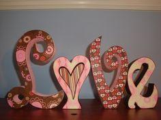 Valentine Decor Love Wood Letters