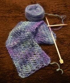 A quick-knit gift!  I think I have the perfect yarn for this...... Christmas gift for next year??