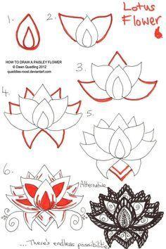 lotus flower - Zentangle like - zentangle inspired - zentangle patterns - #zentangle - doodle art #doodleart