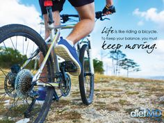 Life is like riding a bicycle. To keep your balance, you must keep moving.  #dietmdhawaii #weightlossquotes #weightlossmotivation