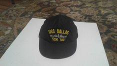c98a37211449e Vintage adjustable Navy battleship cap.USS Dallas SSN 700.Never worn.Black.   fashion  clothing  shoes  accessories  mensaccessories  hats (ebay link)