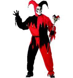 California Costume Men's Adult- Red Evil Jester #eviljestercostumes