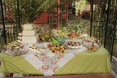 Wedding Desert table at Okanagan Backyard Wedding.