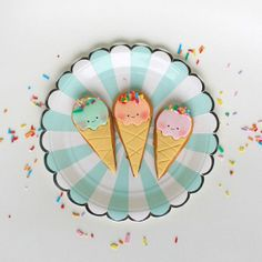 ice cream cone cookies!