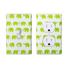 LIME GREEN SWITCH PLATES | Lime Green Elephant Light Switch Plate & Outlet Cover SET OF 2 ...