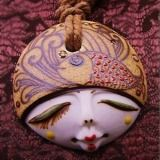 [Hot Item] National Style of Handcrafted Ceramic Jewelry Pendant Necklace