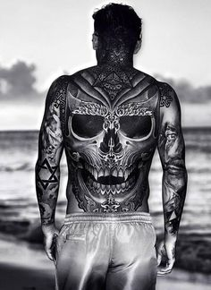 Inquity Skull Tattoos That Will Make You Look Stronger [Latest Hot Guys Tattoos, Cool Chest Tattoos, Badass Tattoos, Great Tattoos, Body Art Tattoos, Hand Tattoos, Sleeve Tattoos, Full Tattoo, Full Back Tattoos
