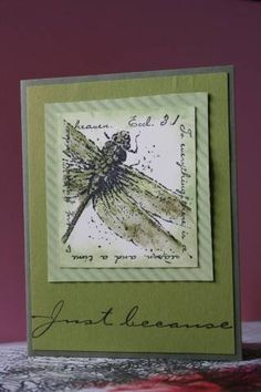 crimped dragonfly using Stampin Up Measure of Life