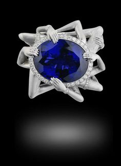 Seven Deadly Sins Collection, Lust by Stephen Webster, 18ct white gold pavé set with white diamonds and tanzanite