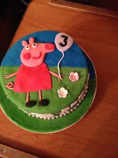 Peppa pig kinder taart