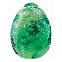 Caithness Glass Green Blessings Paperweight. A gorgeous green elliptical paperweight, perfect for the decor of any room!