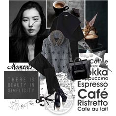 """black and white moments"" by teacafe on Polyvore"