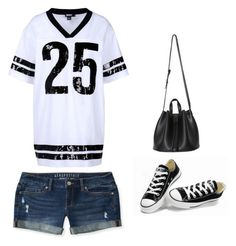 """Outfit Idea by Polyvore Remix"" by polyvore-remix ❤ liked on Polyvore featuring DKNY, Converse and Aéropostale"
