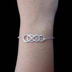 Infinity  Sterling Silver Double Infinity Bracelet  by lisaloren, $45.00