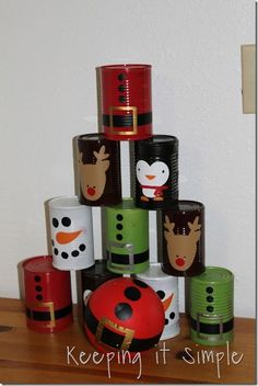 Keeping it Simple: Christmas Bowling Cans tutorial @keepingitsimple