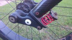 Bicycle front suspension. Fiberglass, carbon fiber and valve spring components