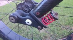 Bicycle front suspension. Fiberglass, carbon fiber and valve spring components