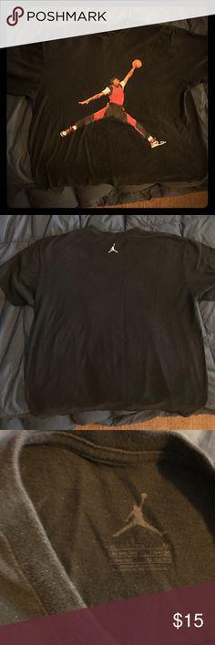 Jordan Tee Black and Red Jordan Jumpman Tee Jordan Shirts Tees - Short Sleeve