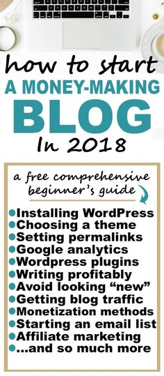 how to start a blog and make money in 2018 free step by step course for beginners