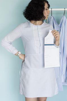 A-Linienkleid aus alten Hemden - Refashion by Tweed & Greet