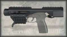 Standard ACP, Adaptive Carbine Platform. Allows any handgun with an accessory rail to be quickly modified in to a personal defense weapon or carbine style firearm.
