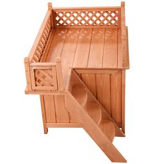 Wood Pet Dog House Wooden Puppy Room Indoor and Outdoor Roof Balcony Bed Shelter *** Review more details here : Dog cages
