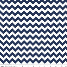 Riley Blake Designs Small Chevron in Navy. Pattern measures point to point. PLEASE NOTE: The Chevron is printed the length of the fabric which is parallel to the selvage. Navy Chevron, Chevron Fabric, Navy Fabric, Cotton Fabric, Fox Design, Riley Blake, Modern Fabric, Navy And White, Navy Blue
